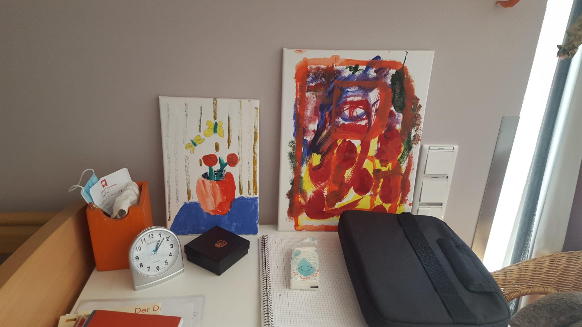 Eines der von Klientinnen und Klienten gemalten Bilder.