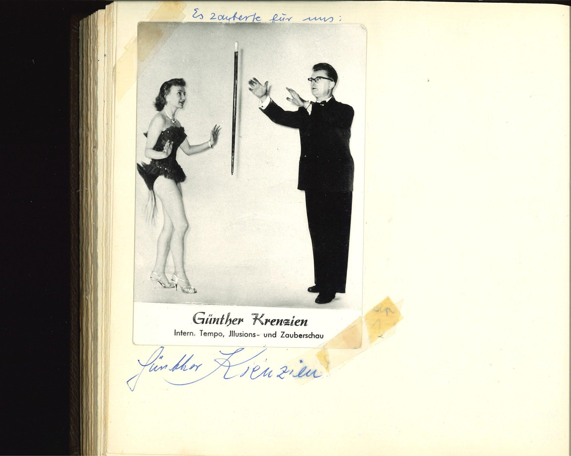 Scan einer Seite des Gästebuches