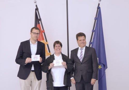Dr. Sebastian Weinert, Anke Köhler und Jürgen Dusel