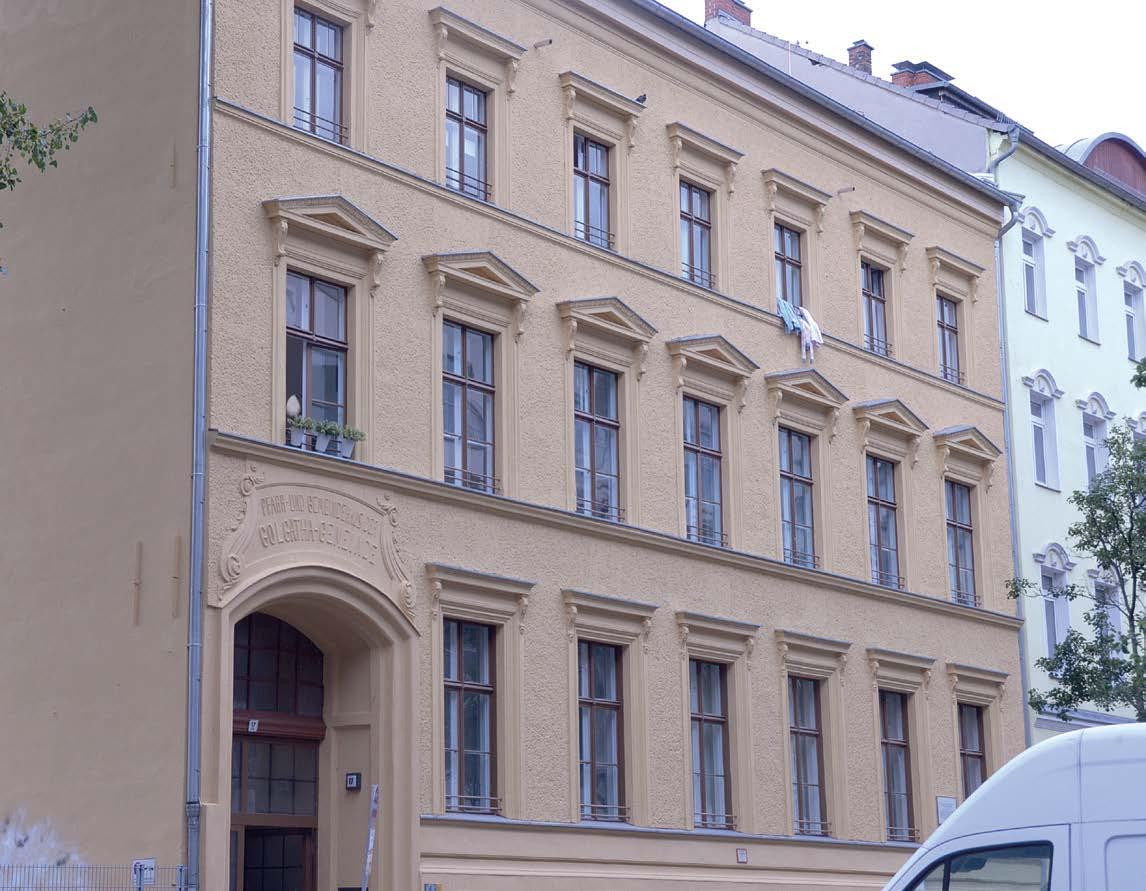 Eine typische Berliner Altbaufassade