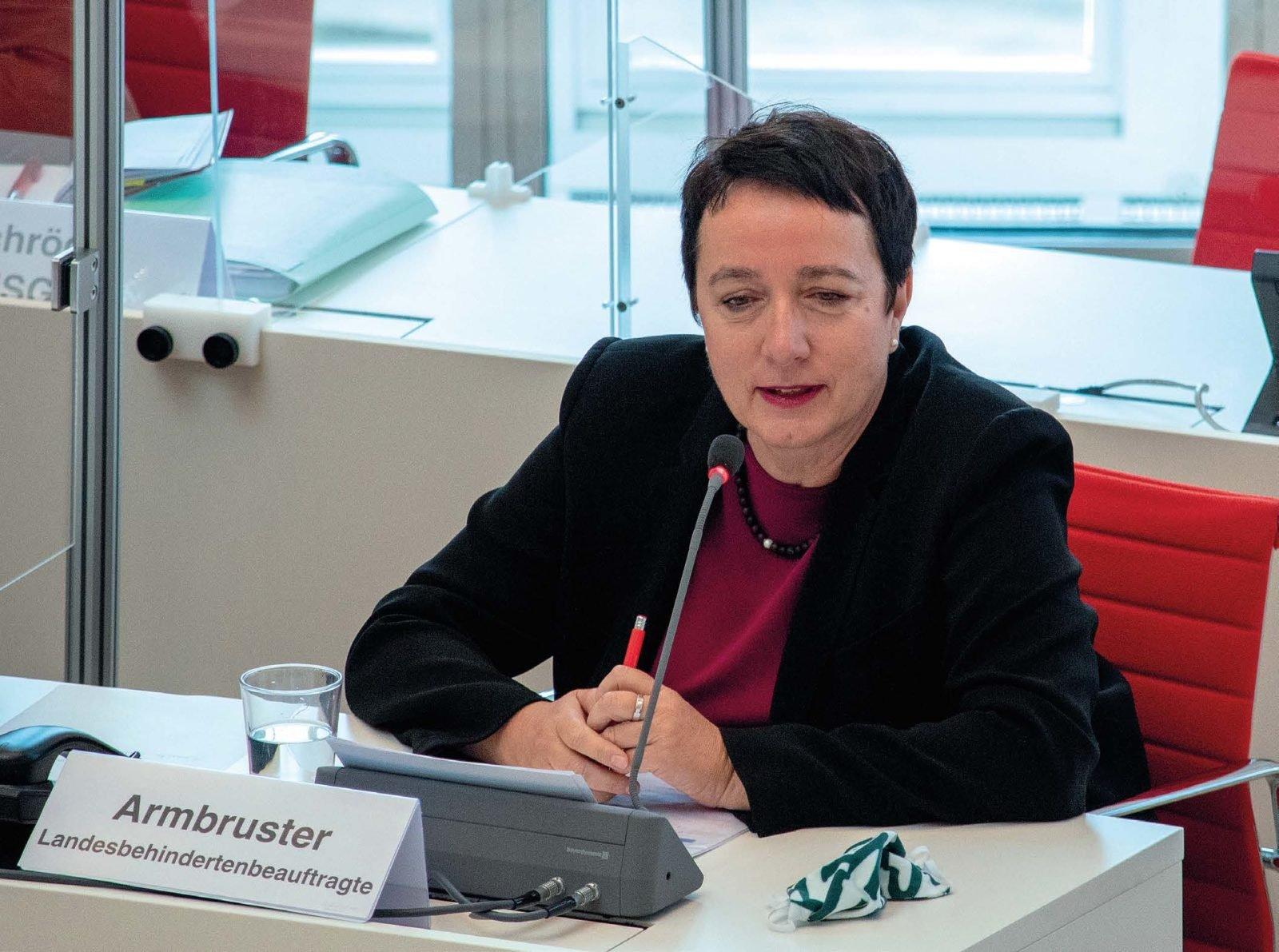 Janny Armbruster im Landtag.