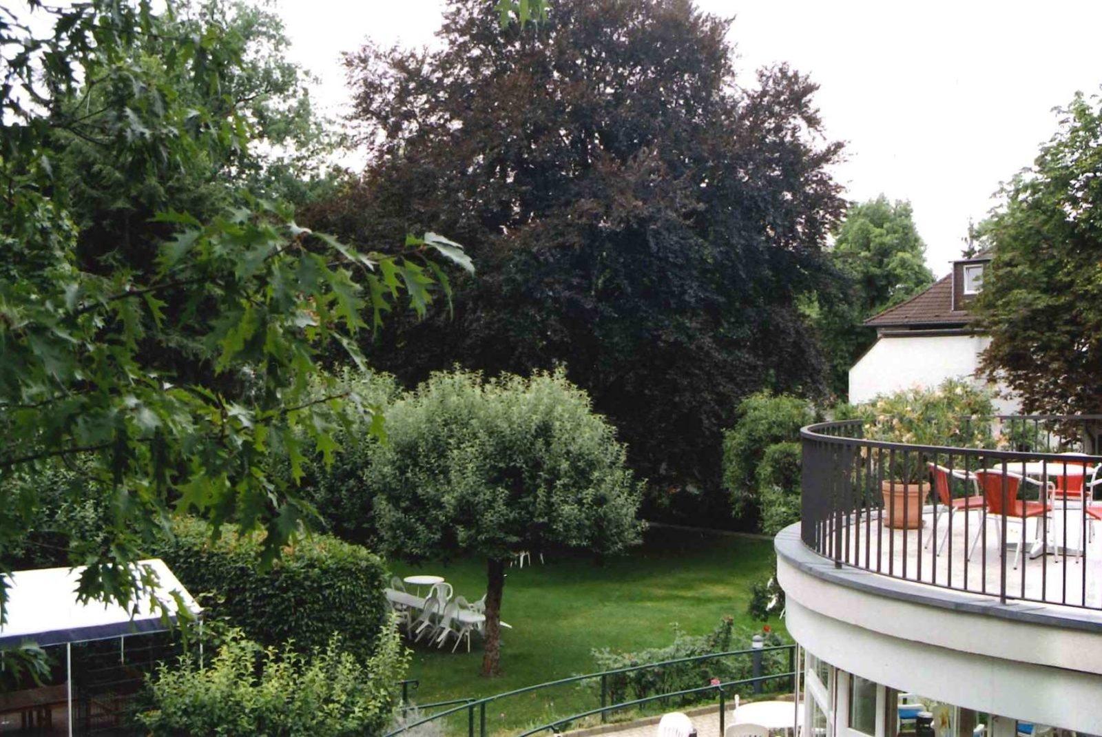 Blick auf die Bäume im Garten der Villa Donnersmarck