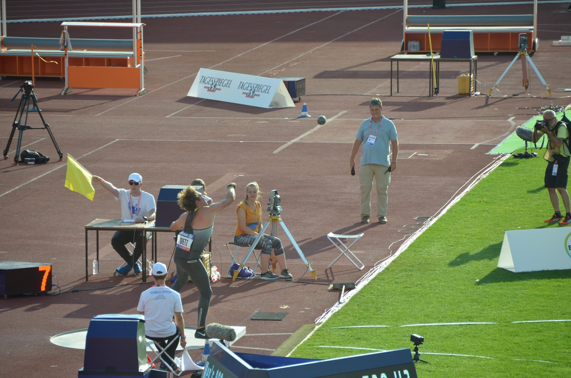 Sebastian Dietz in Aktion bei der Para Leichtathletik EM 2018