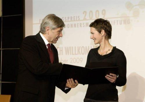 Ulrike Frank bei der Forschungspreisverleihung