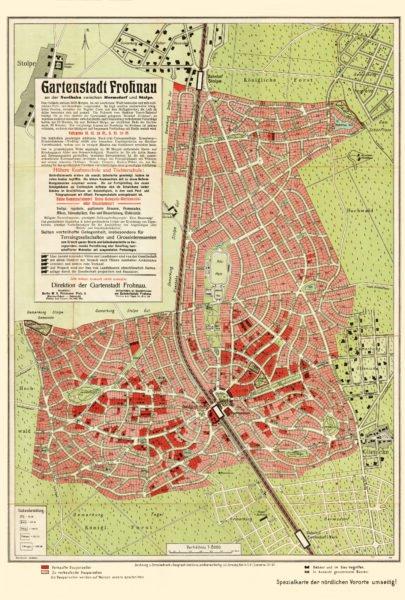 Karte der Gartenstadt Frohnau.