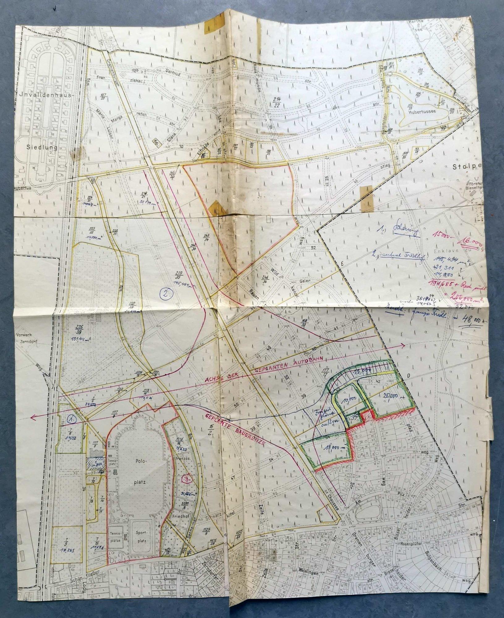 Ein Foto des Flächennutzungsplans.