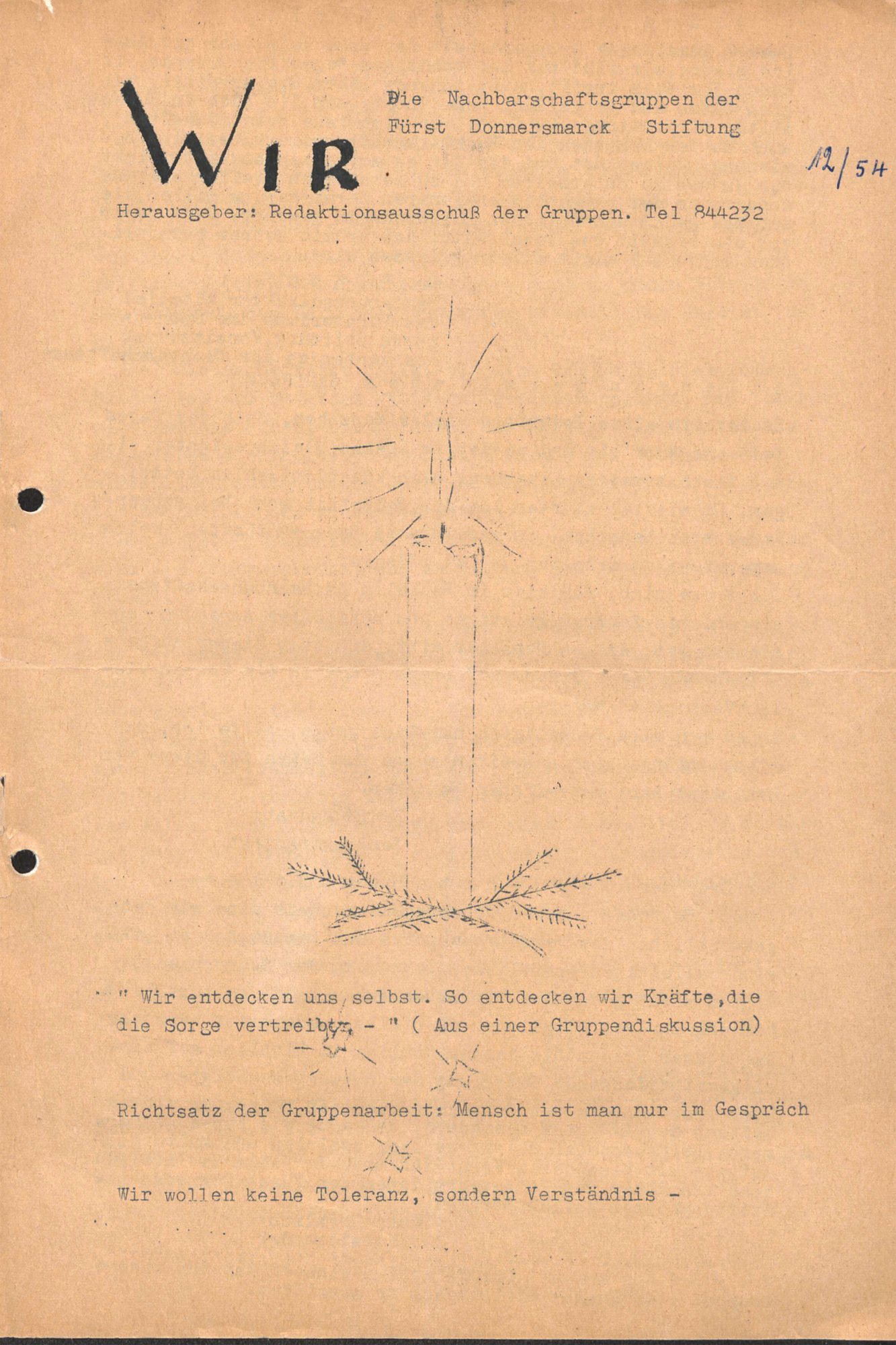 Das Titelbild der Erstausgabe des WIR-Magazins.
