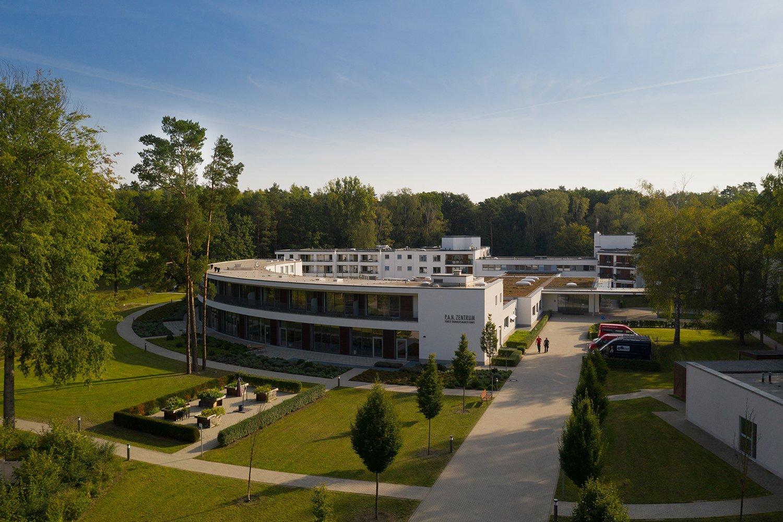 Das P.A.N. Zentrum aus der Luft fotografiert.
