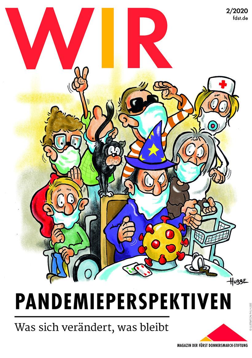 Das Titelbild der WIR 2/2020 mit einer Illustration von Phil Hubbe